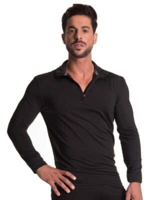 חולצה תרמית חצי רוכסן לגברים